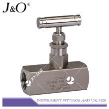 Válvula de aguja de alta presión de acero inoxidable 316L