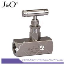Válvula de agulha de instrumento de alta pressão de aço inoxidável 316L