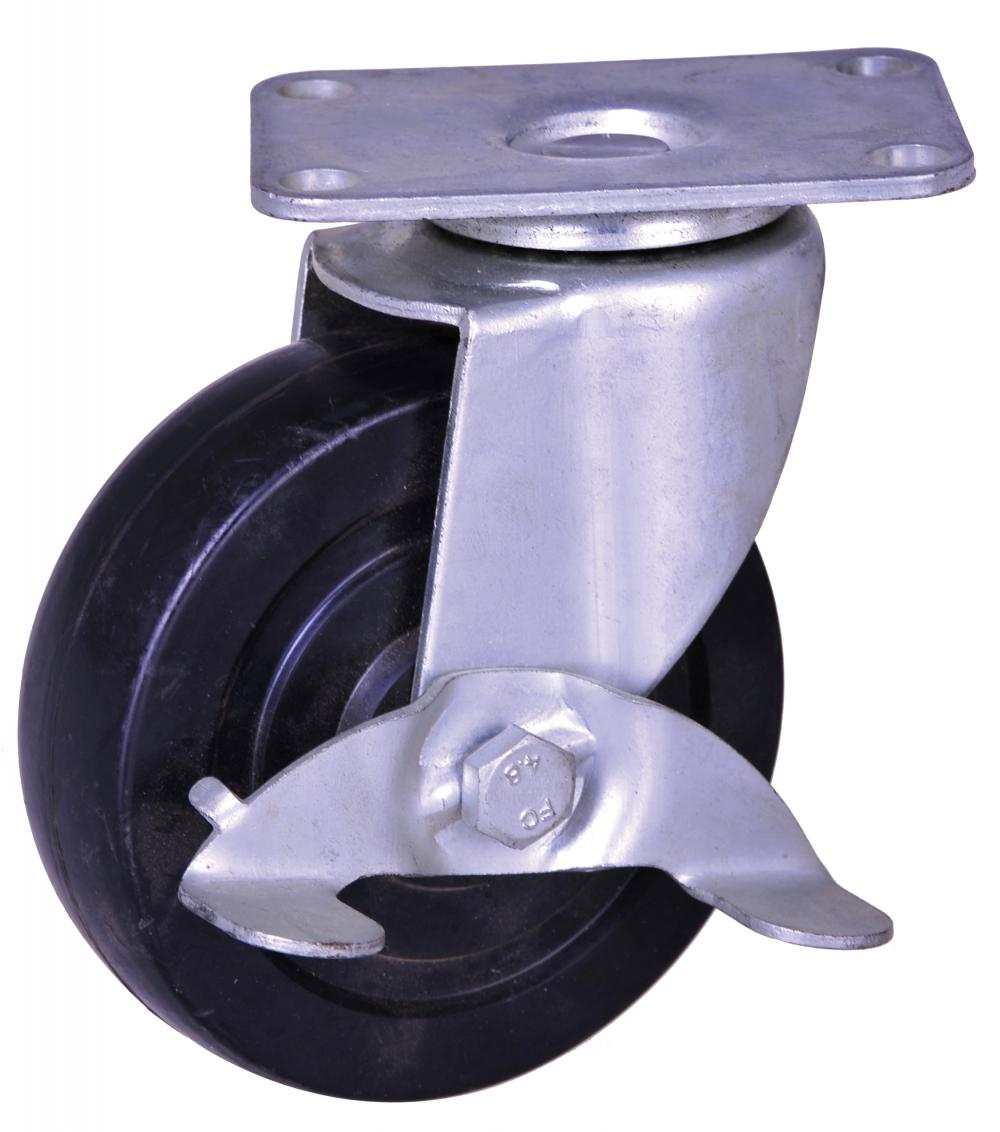3 inch rubber wheel light duty casters