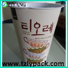 Conception adaptée aux besoins du client, Iml pour la tasse de thé en plastique de lait