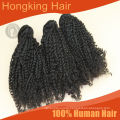 Wholesale Aliexpress Kinky Curly Hair Weave Natural Color Double Weft Cheap 100% Virgin Brazilian curly Hair