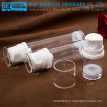 ZB-B series 50ml 120ml haute 180ml clair gros comme des flacons cosmétiques airless
