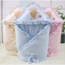 Forro coralino de moda suave bebé swaddle bebé manta