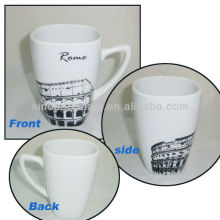 Rome City Design 11OZ Ceramic Square Mug For BS130601A
