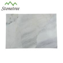 Tábua de cortar mármore retangular