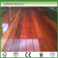 De color rojo marrón angustiado Antideslizante Merbau madera dura cubierta de jardín