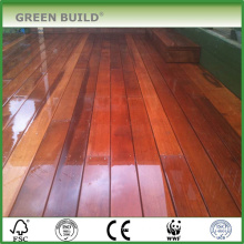 Brown red color distressed Anti-slip merbau hardwood garden decking
