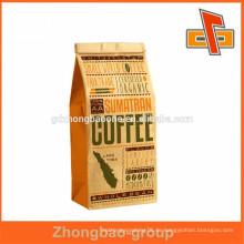 Larege Natrual Brown Kraftpapier Lebensmittel Taschen ohne Griffe, Popcorn Verpackung, Brot Verpackung Papiertüten
