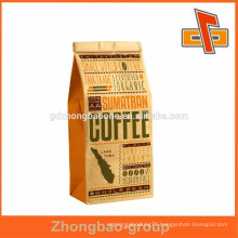 Larege Natrual Brown kraft paper food bags without handles,popcorn packaging,bread packaging paper bags