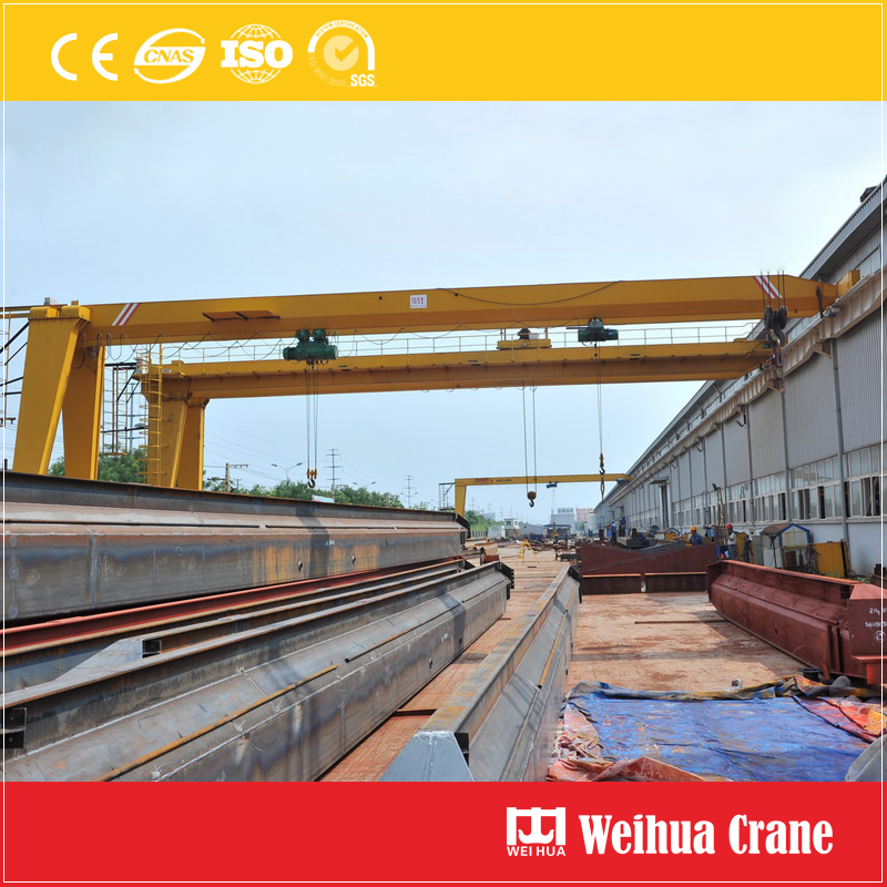 Semi Gantry Crane Single Girder With Hoist