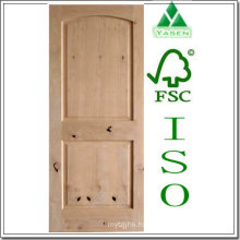 V-Groove Raised Panel Knotty Alder Wood Door