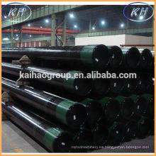 Aceite y gas pozo tubo de la cubierta api 5ct n80 k55 OCTG tubería de la carcasa tipo de tubería de la carcasa rosca btc