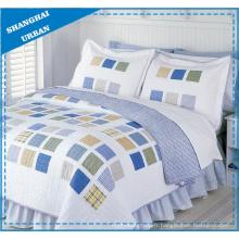 Ensemble de couvre-lit en polyester imprimé carré cubique