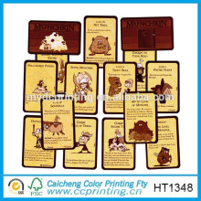 2015 tarjetas de juego brillantes orden personalizado impreso
