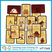 2015 Подгонянный заказ глянцевая игральных карт напечатано