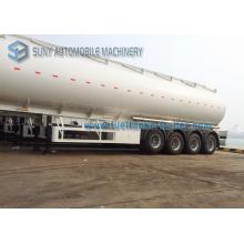Semi-remorque à essence à 4 essieux, 15400 gallon, semi-remorque à réservoir d'huile de 58 cbm