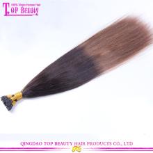 Alisamento brasileiro queratina cabelo tratamento nano queratina ombre cabelo extensões de qualidade superior