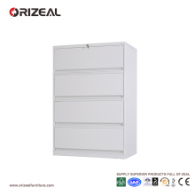 Orizeal 4 Drawer Vertical Lateral Filing Cabinet with Anti Titled Lock (OZ-OSC016)