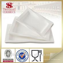 Vajilla real al por mayor de la porcelana, placas reales del cargador de China del hueso