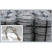 Fil de fer à barbelé galvanisé de 50kg / bobine pour clôture (XM-42)