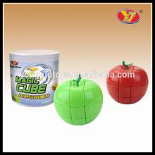 YongJun YJ cubo de forma de manzana 3x3 juego de rompecabezas mágico para niño