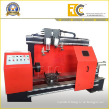Machine horizontale de soudage de réservoir pour compresseurs d'air