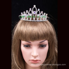 Wholesale Fashion Crown Clear Rhinestones Tiara For Bridal