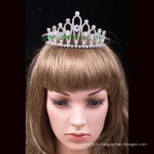 Оптовые моды Корона Clear Rhinestones Tiara для новобрачных