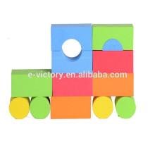 Eva de bloc de construction éducatif éducation éclairer les jouets en plastique de bloc de construction de l'enfant populaire