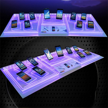 Hochwertige kundenspezifische Acryl Handy-Display mit LED-Licht