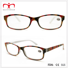 Ladies Plastic Reading Glasses with Multi-Color Paper Transfer (WRP506247)