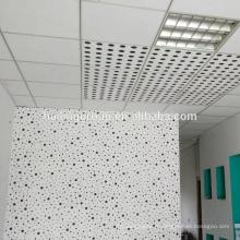 Panneau de gypse perforé décoratif acoustique haute performance