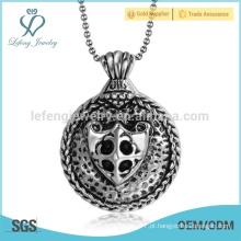 Design de moda pingente de floco de aço inoxidável, jóia pingente, pingente de cabeça de crânio