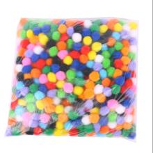 Factory sale Different sizes colorful safe diy pompom for kids DIY