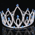 Coronas de cristal de la tiara del Rhinestone de la corona de encargo del diseño simple