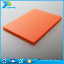 10 anos de garantia lowes policarbonato painéis de parede dupla folha de cobertura de plástico