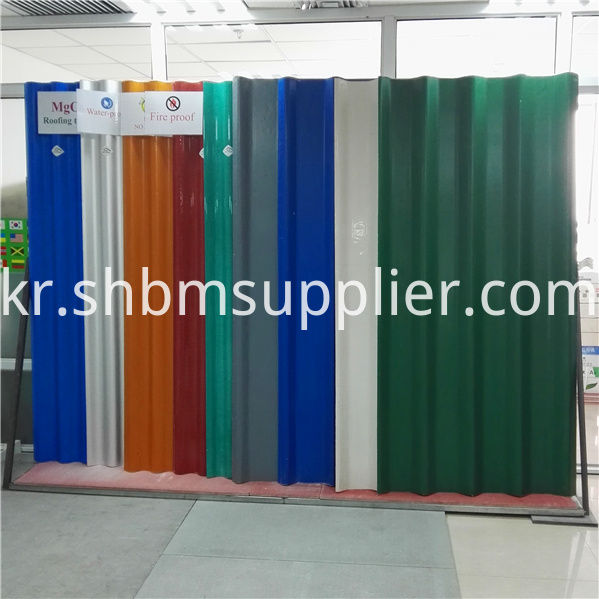 Magnesium oxide roofing sheets