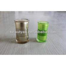 Redonda Cintura Acrílico Jar Embalagem Cosmética 20ml 50ml