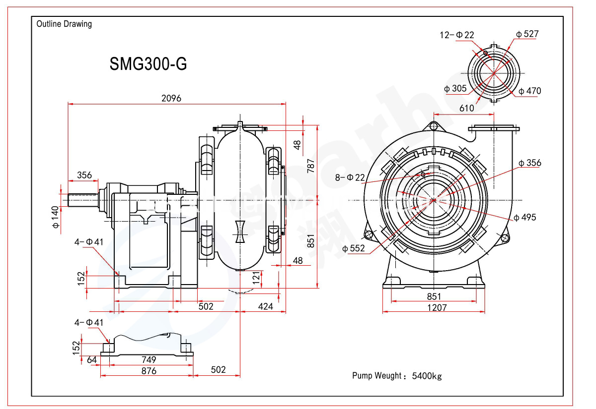 SMG300-G Outline Drawing