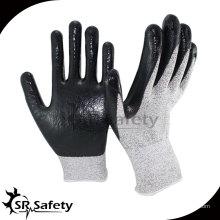 13 калибровочных устойчивых нитриловых рабочих перчаток / нитрила, покрытых ладонной перчаткой