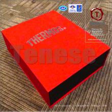 Boîte d'emballage de fermeture magnétique rouge haut de gamme
