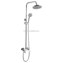 KDS-09 en stock precio de fábrica manguera de la ducha mezclador de la ducha conjunto de baño de cobre sólido con gran anillo de mango ducha de lluvia con barra deslizante