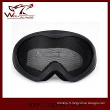 Airsoft X400 aucun brouillard Metal Mesh ne Goggle lunette militaire tactique lunettes