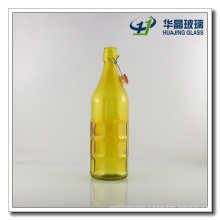 1000ml Square Soda Water Glass Bottle with Swing Top