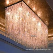 modern light Large crystal chandelier for hotel lobby and corridor cristal interior lighting