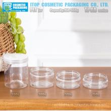 TJ-AB Serie 150g 240g 300g und 550g kostengünstig breite Anwendung Zylinder runden breiten Mund hohen klaren leeren pet Gläsern