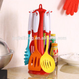 Food Grade Silicone Kitchen Tool Set/silicone Kitchen Accessories/Colorful Bbq Silicone Kitchen Utensil Set