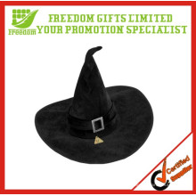 Chapeau de sorcière en velours noir Halloween Déguisements de déguisements