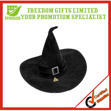 Black Velour Witch Hat Halloween Fancy Dress Costumes