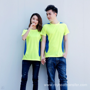 Coloured fluorescent green short sport clothing